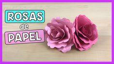 ROSA DE PAPEL | Flores de papel   Fáciles y lindas rosas de papel! | Creativa Official