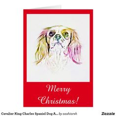 #Cavalier King #Charles #Spaniel #Dog #Art #Painting #Card