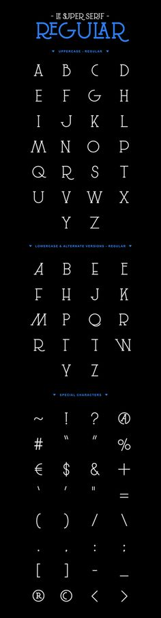 Free font: Le Super Serif by SuperBruut, via Behance