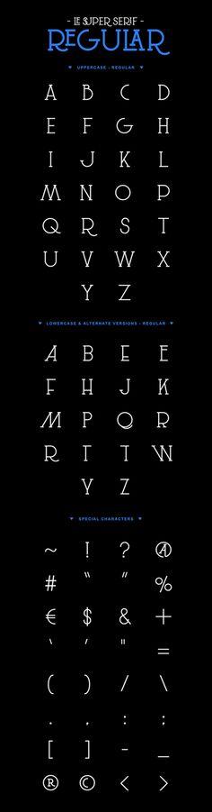 Free font: Le Super Serif on Behance