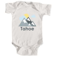 Tahoe, California Mountains and Clouds in Color - Infant Onesie/Bodysuit