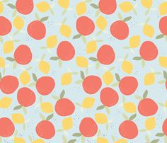 orange_juce_L fabric by nadja_petremand on Spoonflower - custom fabric