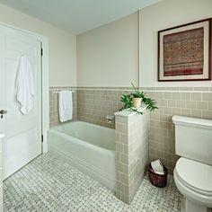 Toilet Next To Tub With Half Wall Alcove Bathtub Bathroom - 4x4 bathtub