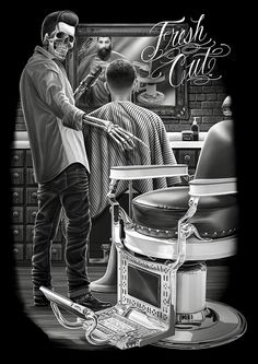 Best barber near me HD Wallpaper [] Barber Poster, Barber Logo, Barber Tattoo, Barber Man, Album Design, David Gonzalez, Barbershop Design, Barbershop Ideas, Cholo Art