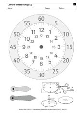 Make your own learning clock- Bastle deine eigene Lernuhr Make your own learning clock - Learning Clock, Learning Time, Kids Learning, Primary Maths, Primary School, Math Games, Math Activities, Math For Kids, Telling Time