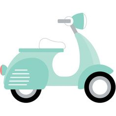 scooter - sweet summer by Doodlebug Design Design ID Published: Silhouette Cameo Projects, Silhouette Design, Painting For Kids, Drawing For Kids, Vespa Illustration, Scooter Drawing, Motor Scooters, Paint And Sip, Silhouette America