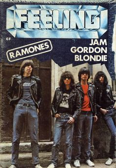 Ramones, original lineup on the cover of Feeling magazine, 1978