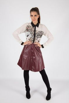 PU A-LINE MIDI SKIRT R 485.00 - Elasticated high or low waistband - PU leather look material Pu Leather, Leather Skirt, Leather Jacket, Line, Midi Skirt, Skirts, Jackets, Collection, Fashion