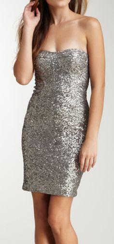 Glitter strapless dress