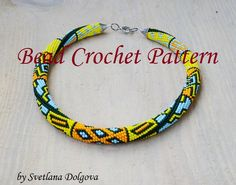 Pattern for bead crochet necklace Folk indian by DolgovaSvetlana