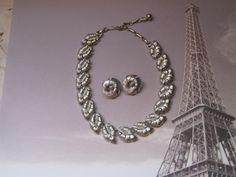 CLEARANCELISNER Necklace And Clip On by LunasVintageDesigns, $30.00