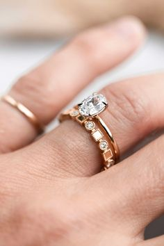 Add shapes, diamonds, gold, and texture to your stack with one ring. #considerthewldflwrs