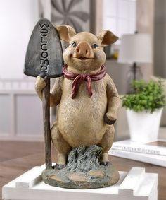 Look what I found on #zulily! 'Welcome' Pig Figurine #zulilyfinds