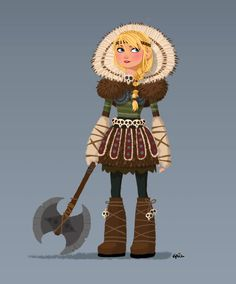 GrizandNorm : Concept art for Astrid's costume #HTTYD2 | Griz