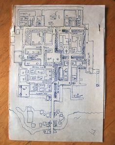 Карта столицы Арканума города Тарант. Arcanum's Tarant map