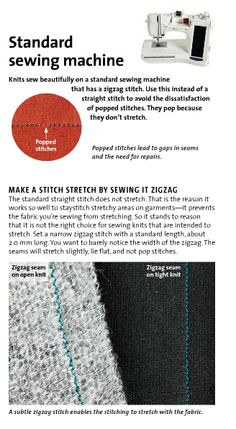 Sew stretch on a normal sewing machine...Threads Magazine