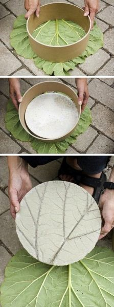 Garden Decor: Concrete Leaf Prints | A Gardener's Notebook