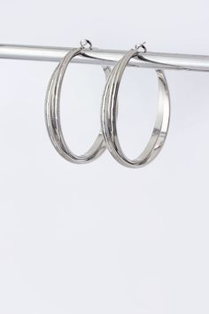 Chic silver stacked hoops. $11 https://www.krisandkate.com/dealoftheday.html