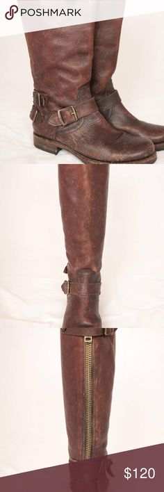 I just added this listing on Poshmark: Dark Brown Frye Distressed Leather Slouch Boots. #shopmycloset #poshmark #fashion #shopping #style #forsale #Frye #Shoes