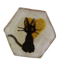 Unique Creations — Cat Love, Button