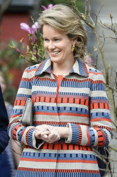 Queen Mathilde of Belgium during a visit to the Chinese pandas of animal park Pairi Daiza, 30.03.14, in Brugelette.