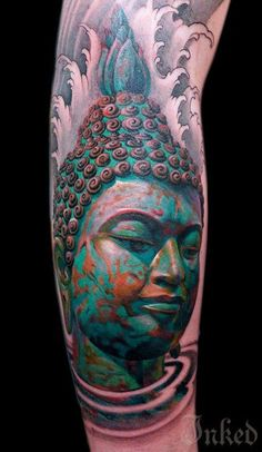 3D tattoo designs are definitely on the spotlight these days. This beautiful 3D Buddha design is perfect to show off to people.