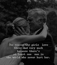 The reason why girls love their dad very much because there's at least one man in the world who never hurt her. Father Daughter Love Quotes, Father Love Quotes, Father And Daughter Love, Love My Parents Quotes, Mom And Dad Quotes, Father Daughter Quotes, Fathers Love, Mother Daughters, Daddys Girl Quotes