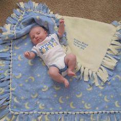 No tie, no see baby fleece blanket