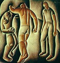 O Combate 1927 | Vicente do Rego Monteiro óleo sobre tela, c.s.d. 130.00 x 130.00 cm