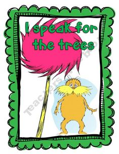 Dr. Seuss The Lorax Environmental Poster Set