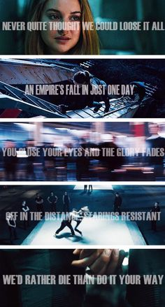 "Divergent and Imagine Dragons ""Ready Aim Fire"" Divergent Fandom, Divergent Trilogy, Divergent Insurgent Allegiant, Divergent Quotes, Divergent Dauntless, Tris And Four, Veronica Roth, Shailene Woodley, Imagine Dragons"