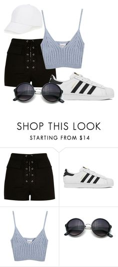 """""""Untitled #392"""" by skylersky ❤ liked on Polyvore featuring River Island, adidas, Chicnova Fashion, Talbots, women's clothing, women's fashion, women, female, woman and misses"""