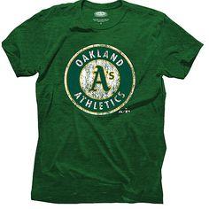 Oakland Athletics Triblend  Logo T-Shirt by Majestic Threads - MLB.com Shop