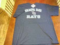 64521d5c Navy Blue MAJESTIC Licensed TAMPA BAY RAYS, Major League Baseball t-shirt  #Majestic #GraphicTee #Casual