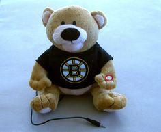 NHL-Boston-Bruins-Hockey-Party-Bear-Forever-Collectibles-Speaker-Team-Logo