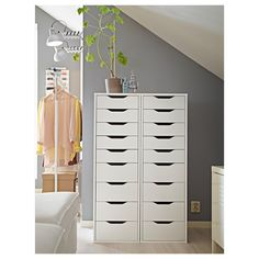 IKEA - ALEX, Drawer unit with 9 drawers, , High unit with many drawers means plenty of storage on minimum floor space.Drawer stops prevent the drawer from being pulled out too far.