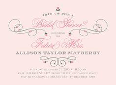 Pretty Bridal Shower Invitations!