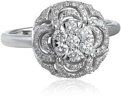 14k White Gold Circle Cluster Diamond Ring (1/2 cttw, H-I Color, I1-I2 Clarity), http://www.amazon.com/dp/B00LUOOXPS/ref=cm_sw_r_pi_awdm_6RlGub1FK5VMS