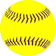 Yellow Purple Softball3 clip art