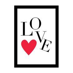 Printable - LOVE e coração vermelho | amomuito.com | R$5