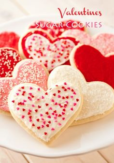These fun, heart-shaped sugar cookies are not only perfect for Valentine's Day, but any special day when you want to treat the ones you love! Delicate, fluffy, & yummy.