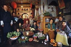 What A Week Of Groceries Looks Like Around The World: the Namgay family from Shingkhey Village, #Bhutan