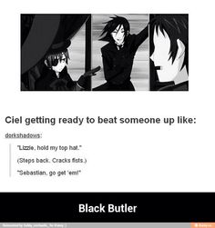 Ciel is truly a calamitous force in the world of black butler Yuri!!! On Ice, Black Butler Funny, Sebastian Ciel, Sebaciel, Butler Anime, Black Butler Kuroshitsuji, Kaichou Wa Maid Sama, Ciel Phantomhive, Awesome Anime
