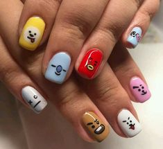 BTS (K-POP) Inspired Nail Art - BTS Nail Art Design