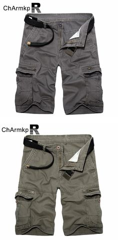 de12ae97ea0 ChArmkpR Plus Size 30-46 Military Loose Big Pockets Multicolor Men Cargo  Shorts at Banggood