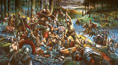 The ambush of Arminius in the Teutoburg Forest