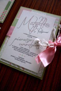 Zaproszenie na Baby Shower, urodzinki lub chrzest w kolekcji Pastelowa.