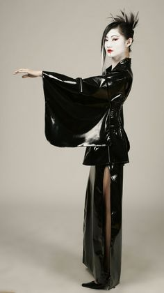 I've always loved the idea and look of a Latex Kimono. A fantasy within a fantasy.