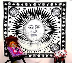 Check out this item in my Etsy shop https://www.etsy.com/uk/listing/454322560/indian-sun-hippie-hippy-tapestry-wall