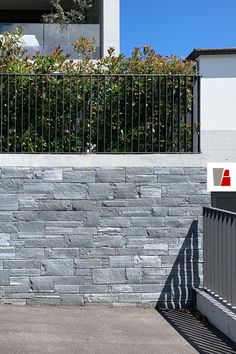 """Made by our stone masons, a stone wall in swiss grey granite. """"Romans"""" or """"Scottish"""" laying pattern, dry construction method. Dry Stone, Masons, Romans, Granite, Construction, Grey, Wall, Outdoor Decor, Pattern"""